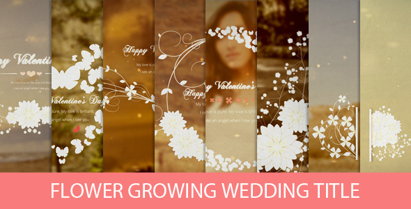 Flower Growing Wedding Title Preview