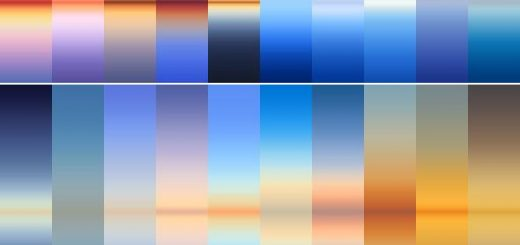 30 Real Sky Gradients - Nature Textures / Fills / Patterns